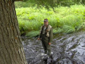 Gerry flyfishing in Nova Scotia