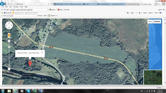 Google Map showing Glenelg, Nova Scotia