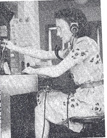 Miss Laurie Sears, the Chief Telephone Operator at Sherbrooke, NS - from the archives of Norma Cooke.